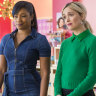 "Salma Hayek, from left, Tiffany Haddish and Rose Byrne in ""Like a Boss."""