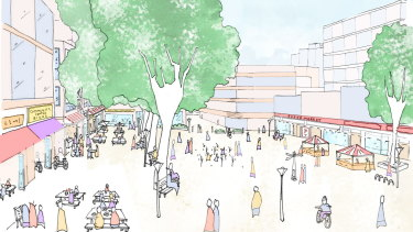 An artist's impression of Neutral Bay under the Military Road Corridor Planning Study.