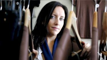 Designer Katie Perry in her Mosman studio.