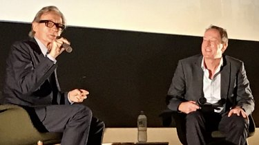 BIll Nighy at Q&A session with Garry Maddox about the 2016 film Their Finest.