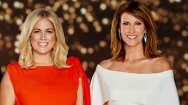 Poker faced: Sunrise hosts Samantha Armytage and Natalie Barr.