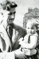 George Orwell and his adopted son, Richard.
