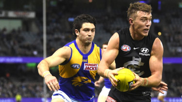 No.1 fan: Patrick Cripps has signalled his support for David Teague.