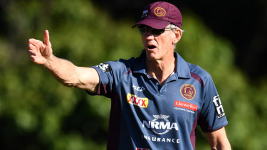 Frustrated: Wayne Bennett is keen to see out his contract but it has been reported the Broncos are keen to replace him next year.
