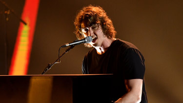 Dean Lewis, pictured performing at the 2018 ARIA Awards, turned his Australian success into a solid US and European following.