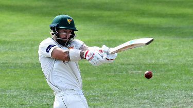 Irresistible form: Matthew Wade looms as a wildcard selection against England.