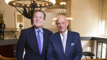 Premier Investments' Mark McInnes and Solomon Lew.