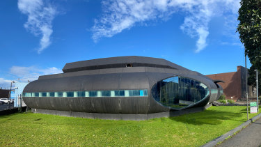 Atari's spaceship-like former headquarters at 1076 Centre Road in Oakleigh.
