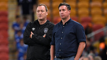 Tony Grant and Robbie Fowler, the new brains trust at Brisbane Roar.