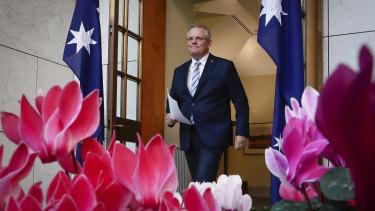 Prime Minister Scott Morrison announces the reshuffle.