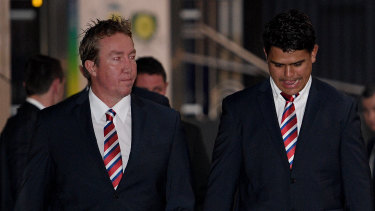 Trent Robinson and the Roosters aren't happy with Latrell Mitchell.