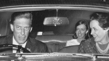Lord Harewood and Patricia Tuckwell (right) drive from London airport after arrival from the US where they were married in New Canaan, Connecticut  on August 3, 1967.