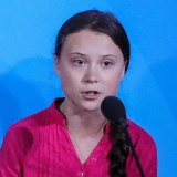 Swedish activist Greta Thunberg speaks during the United Nations Climate Action Summit in New York.