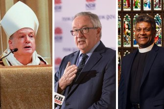 Sydney archbishops have challenged Health Minister Brad Hazzard over the government's plans to make vaccination a requirement to go to church.