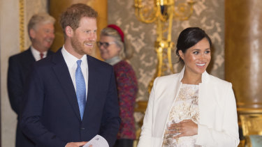 The Sussexes: Harry, Meghan and bump.