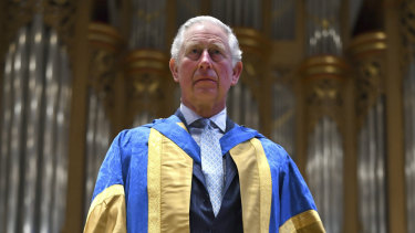 Britain's Prince Charles attends the Royal College of Music's annual awards ceremony in South Kensington, London.