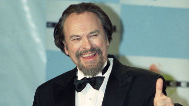 Actor Rip Torn gives a thumbs-up after winning an best actor in a comedy series award for HBO's The Larry Sanders Show in 1995.