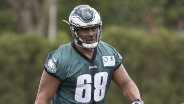 Opportunity: Some expected retirements could give Australian NFL prospect Jordan Mailata a shot with the Eagles.