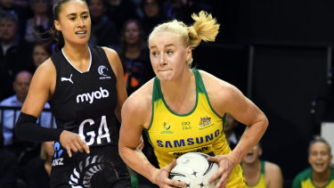 No holding back: Australian Diamonds defender Jo Weston wants to make the most of her first World Cup appearance after losing last year's Commonwealth Games.