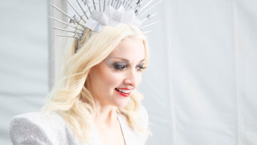 Australian Eurovision entrant Kate Miller-Heidke backstage before the first rehearsal on May 5.