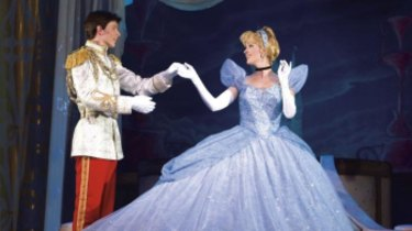 Cinderella with Prince Charming.