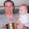 Baptism of fizz: The Wallabies, the baby and the Webb Ellis Cup