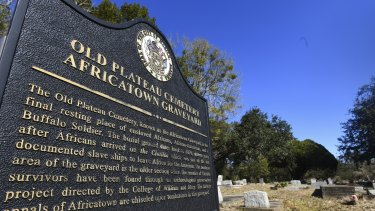 Old Plateau Cemetery, the final resting place for many survivors of the slave ship Clotilda, in Mobile, Alabama.