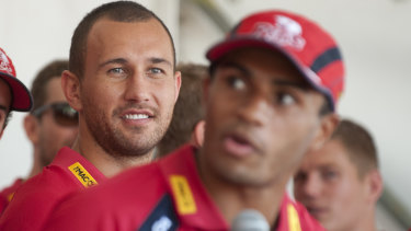 Better times: Will Genia and Quade Cooper in their Reds days.
