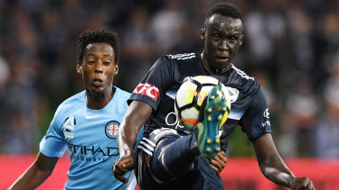 Victory defender Thomas Deng is one of several A-League players Graham Arnold is considering playing in the Socceroos' friendly against South Korea.