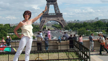 Murder victim Joy Rowley in Paris.