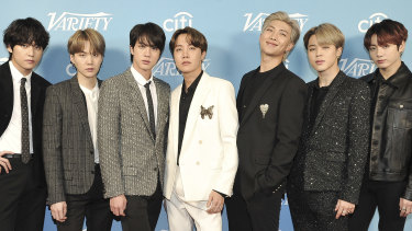K-pop agency Big Hit Entertainment Co. soared on its debut trading yesterday, boosting the fortunes of its billionaire founder and seven multimillionaire members of the world's best-known boy band, BTS
