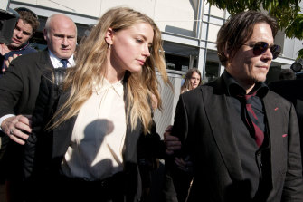 Johnny Depp and Amber Heard appear at Southport Magistrates Court, Gold Coast, in 2016 over a charge of falsifying an immigration document.