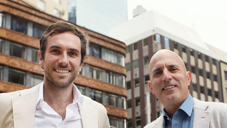 GetSwift president Joel McDonald and chief executive and executive director Bane Hunter.