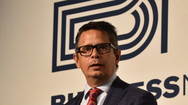 Treasurer Ben Wyatt speaks at the Business News state of the economy lunch.