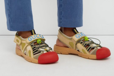 Gucci sandal/sneaker hybrids via matchesfashion.com