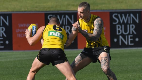 Light duties for Dustin Martin in last run before preliminary final