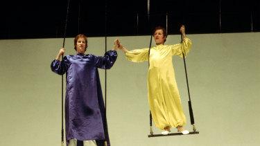 Alan Howard (Oberon) and John Kane (Puck) in Peter Brook's A Midsummer Night's Dream.