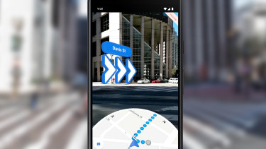 AR navigation in Google Maps is rolling out now to Pixel devices, as a preview.