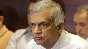 Sri Lanka's sacked Prime Minister Ranil Wickeremesinghe.