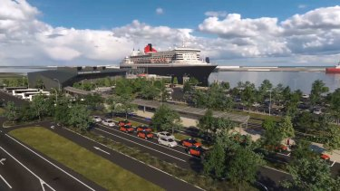 The cruise terminal planned for Luggage Point.