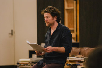 Dan Spielman during rehearsals for Sexual Misconduct of the Middle Classes.
