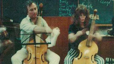 Roger Covell playing the Viola da gamba.