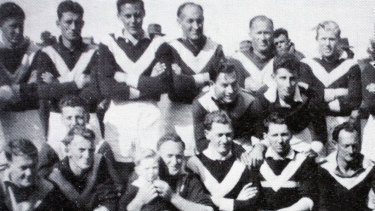 Flashback: The Fish Creek team for the 1952 grand final.