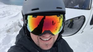 Pip Jewson on the NZ heliboarding trip.