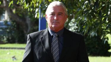 Mark Thomson arrives at court.