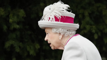 Britain's Queen Elizabeth II arrives to attend the Christmas day service at St Mary Magdalene Church in Sandringham in Norfolk.
