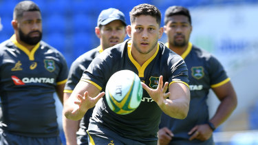 England-based Wallaby Adam Coleman could find it hard being noticed from afar by Wallabies coach Rennie.