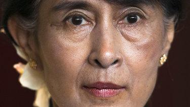 In denial: Myanmar leader Aung San Suu Kyi.