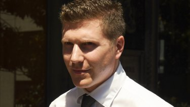 Matthew Holberton leaves Downing Centre in Sydney on Monday.