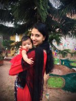 Juna Devasia and baby Tessa, 11 months, are stranded in India.